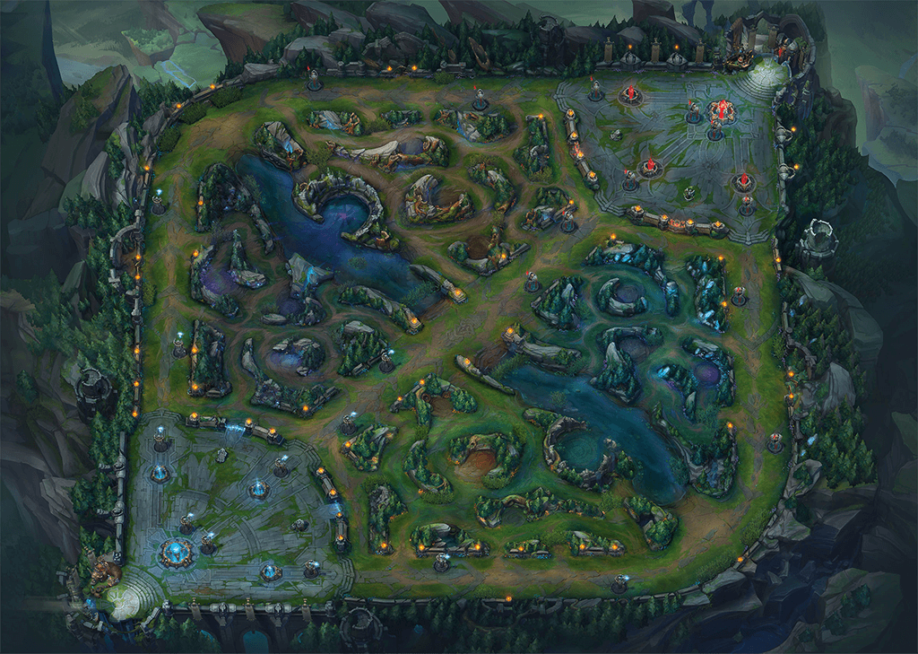 La carte de League of Legends
